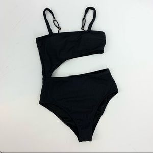 Shade & Shore Black One Piece Bathing Suit Small